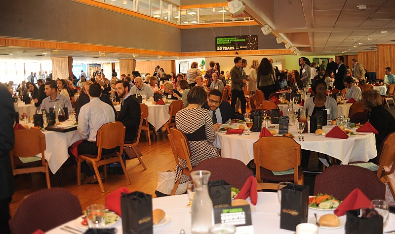 Lunch is served at the Entrepreneurs' Growth and Networking Conference